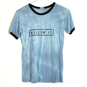 John Galt Killin It Watercolor Tie Dye Shirt Small